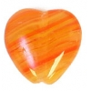 Glass Pressed Beads 10x10mm Heart Dark Salmon